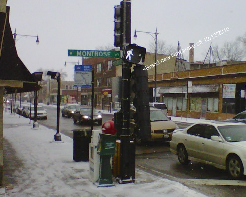 Broken Lights Montrose and Milaukee Avenue