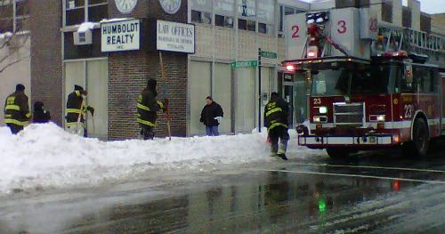 Chicago Firefighters dig out Hydrants 1