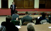 Phil Bernstein in Action 48Th Ward debate