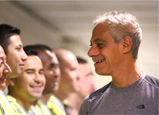Rahm Emanuel with CPD recruits.jpg