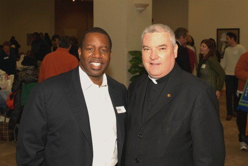 Senator James Meeks and Rev. Msgr. Michael M. Boland Chicago Catholic Charities