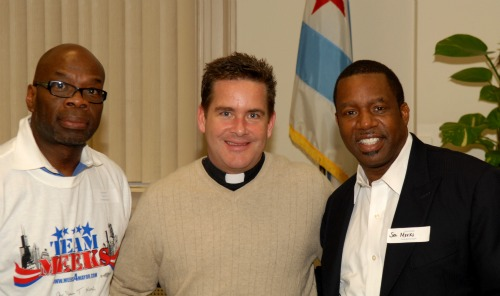 "Wallace ""Gator"" Bradley, Rev. Wayne Watts, and Rev. James Meeks Chicago"